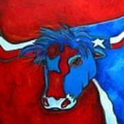 Lone Star Longhorn Art Print