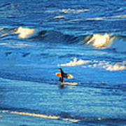 Lone Surfer 1 Art Print