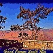 Lone Tree South Rim Poster Art Print