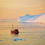 Lonely Boat - Greenland Art Print