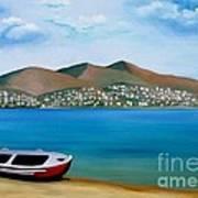 Lonely Boat Art Print by Kostas Koutsoukanidis