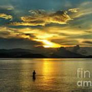 Lonely Fisherman Art Print