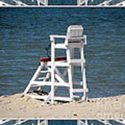 Lonely Lifeguard Station At The End Of Summer Art Print