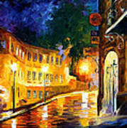 Lonely Night - Palette Knife Oil Painting On Canvas By Leonid Afremov Art Print