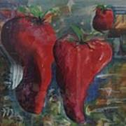 Lonely Peppers Art Print