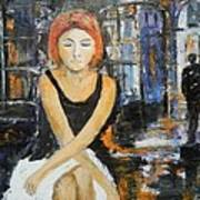 Lonely Woman Lonely Man Art Print