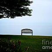Lonesome Bench Art Print
