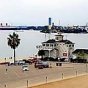Long Beach Bay California / Tintbrush Effect Art Print