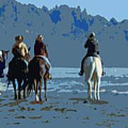 Long Beach Horses Study Art Print