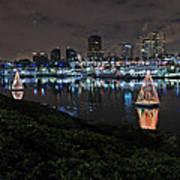 Long Beach Lights Art Print