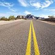 Long Desert Road Art Print