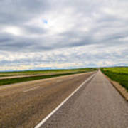 Road To The Sky In Saskatchewan. Art Print