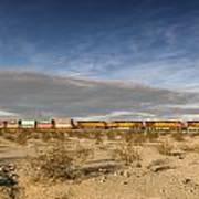 Long Train Near Barstow Art Print