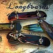 Longboards Art Print