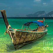 Longboat Art Print by Adrian Evans