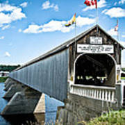 Longest Covered Bridge Art Print