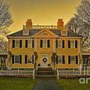 Longfellow House-cambridge Boston Art Print