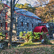 Longfellow's Wayside Inn Grist Mill In Autumn Art Print