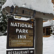 Longmire National Park Inn Art Print