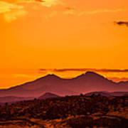 Longs Peak Smoke And Sunset Art Print by Rebecca Adams