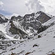 Longs Peak Winter Art Print by Aaron Spong