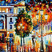 Lonley Couples - Palette Knife Oil Painting On Canvas By Leonid Afremov Art Print