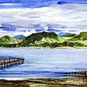 Looking At Morro Bay  Art Print
