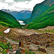 Looking Back To Lake Louise From Trail To Plain Of Six Glaciers In Banff Np-ab  Art Print