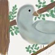 Looking Bird Art Print