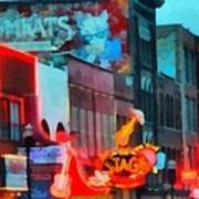 Looking Down Broadway In Nashville Tennessee Art Print