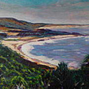 Looking Down On Half Moon Bay Art Print