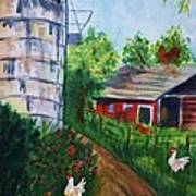 Looking Down On The Farm Art Print