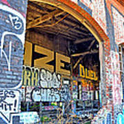 Looking Inside The Old Train Roundhouse At Bayshore Near San Francisco And The Cow Palace IIi  Art Print