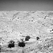 Looking Off Into The Desert At Matmata Tunisia Art Print