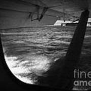 Looking Out Of Seaplane Window Landing On The Water Next To Fort Jefferson Garden Key Dry Tortugas F Art Print by Joe Fox
