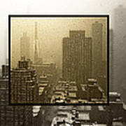 Looking Out On A Snowy Day - Nyc Art Print