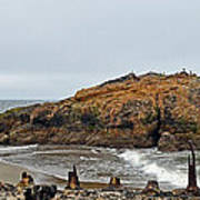 Looking Out On The Pacific Ocean From The Sutro Bath Ruins In San Francisco  Art Print