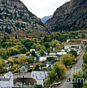 Looking Over Ouray From The Sutton Mine Trail Circa 1955 Art Print