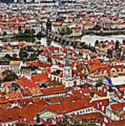 Looking Over Prague Art Print
