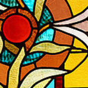 Looking Through Stain Glass Art Print by Thomas Fouch