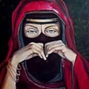 Looking Through Niqab Art Print