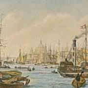 Looking Towards London Bridge Art Print by William Parrot