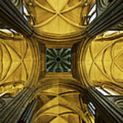 Looking Up At A Cathedral Ceiling Art Print