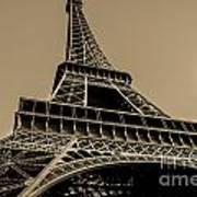 Looking Up At Eiffel Art Print