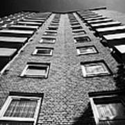 looking up at stangate house 1950s tower block flats housing lambeth London England UK Art Print