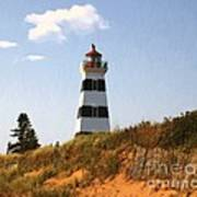 Looking Up From The Dunes At West Point Light Art Print