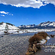 Looking Up The Salmon River Art Print