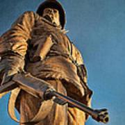 Looking Up To A Hero In Pueblo Colorado Art Print