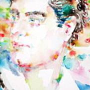Lord Byron - Watercolor Portrait Art Print