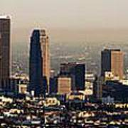 Los Angeles In Silver Light Art Print